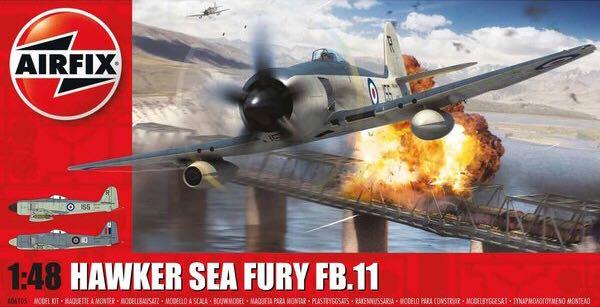 Sea Fury Plane - Hawker (Korean War Era) front image (front cover)