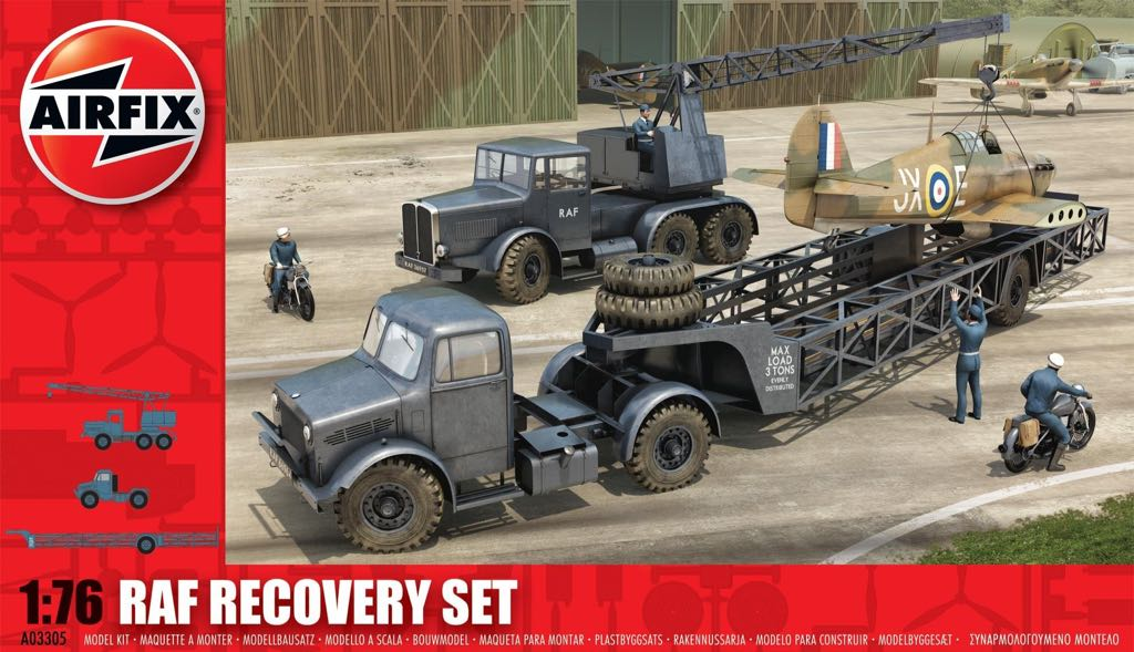 RAF RECOVERY SET Plane - BEDFORD (Military Vehicle) front image (front cover)