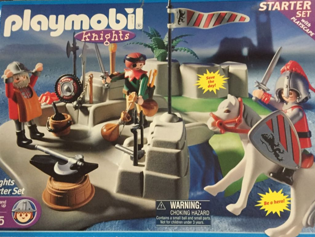 3125 Knights Starter Set Playmobil front image (front cover)
