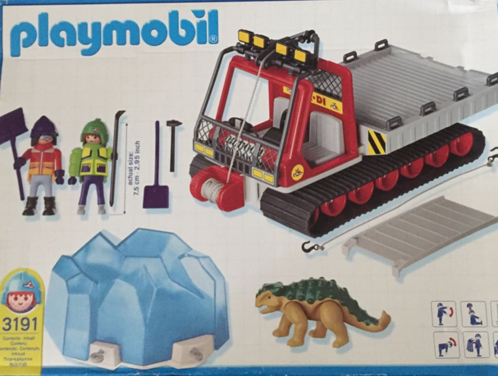 3191 Adventure Dino Transporter Playmobil - Polar Artic (3191) back image (back cover, second image)