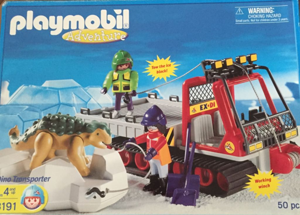 3191 Adventure Dino Transporter Playmobil - Polar Artic (3191) front image (front cover)