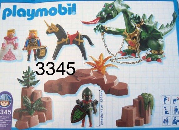 3345 Dastardly Dragon Playmobil - Fantasy Castle (3345) back image (back cover, second image)