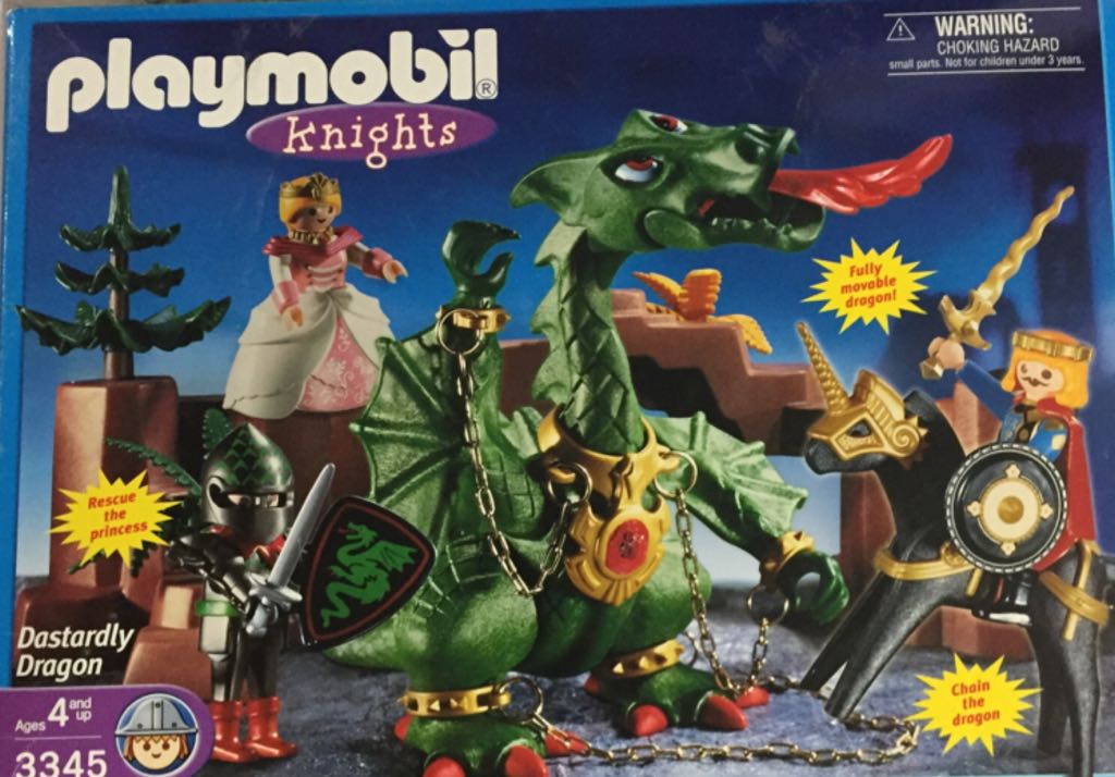 3345 Dastardly Dragon Playmobil - Fantasy Castle (3345) front image (front cover)