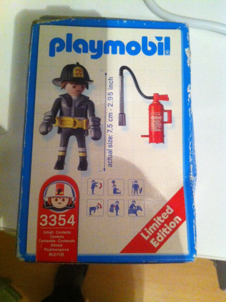 Brandweer Limited Edition Playmobil - Rescue (3354) back image (back cover, second image)