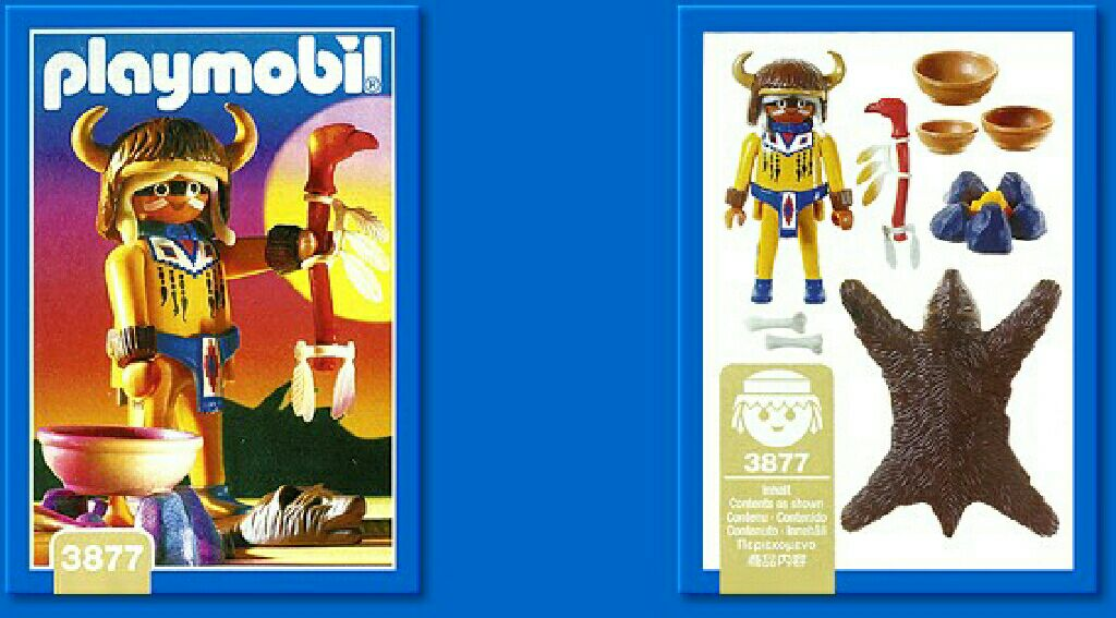 Indian Medicine Man Playmobil (3877) front image (front cover)