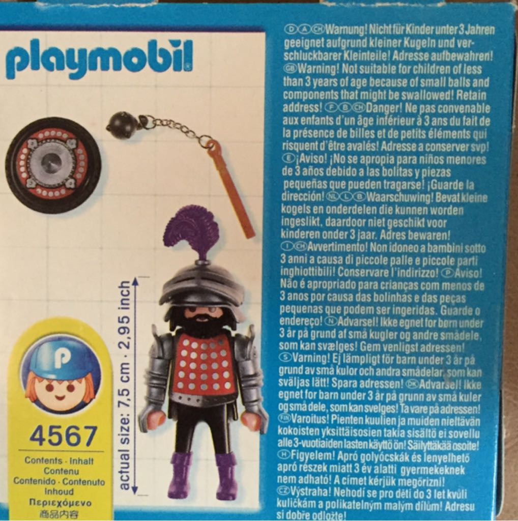 4567 Sir Polka Dot Special Knight Playmobil - Caballeros - Sin Clan (4567 Special) back image (back cover, second image)