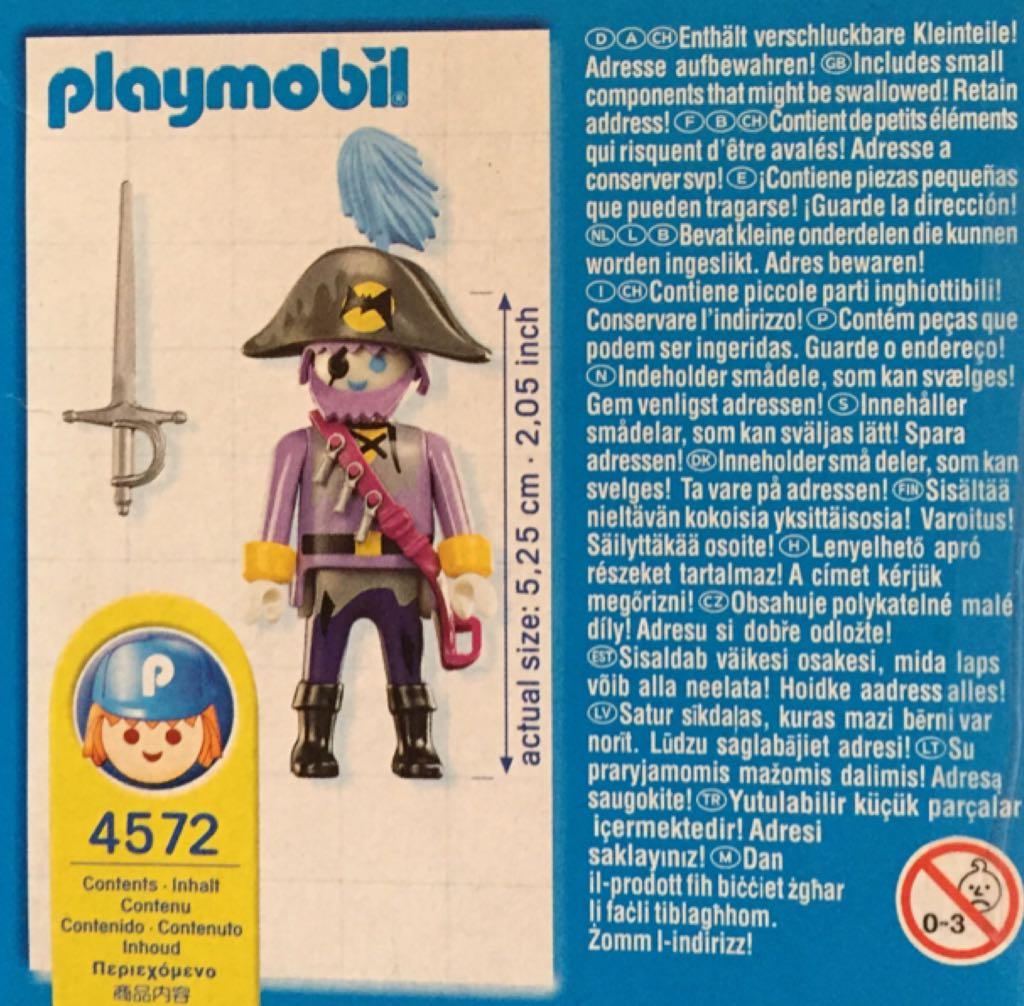 4572 Phantom Pirate Special Playmobil - Pirates (4572) back image (back cover, second image)