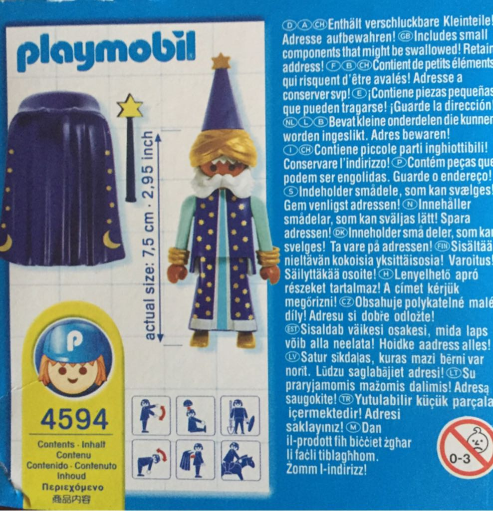 4591 Merlin Magic Special Playmobil back image (back cover, second image)