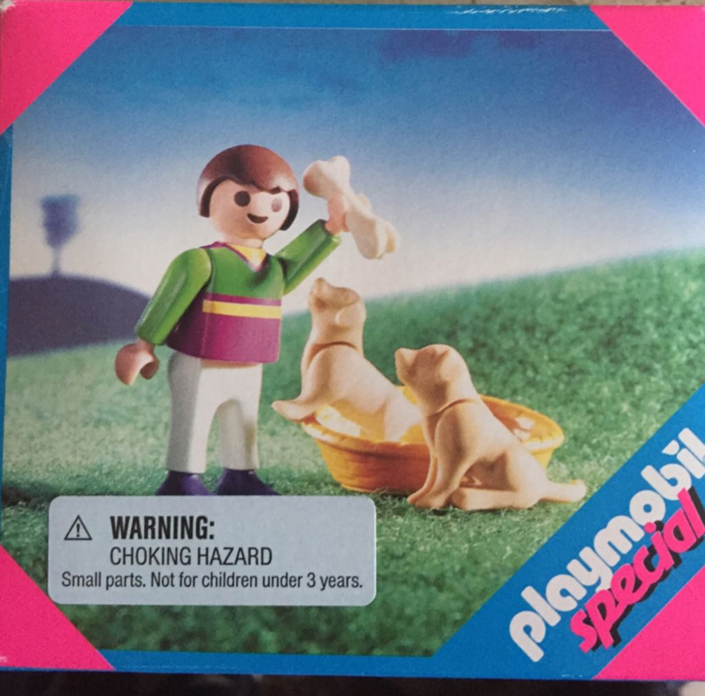 4598 Boy With Puppies Special Playmobil front image (front cover)