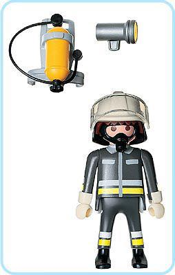 4608 Firefighter City Life Special Playmobil - City Life (4608) back image (back cover, second image)
