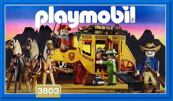 Western express stagecoach playmobil western 3803 for Kutsche playmobil