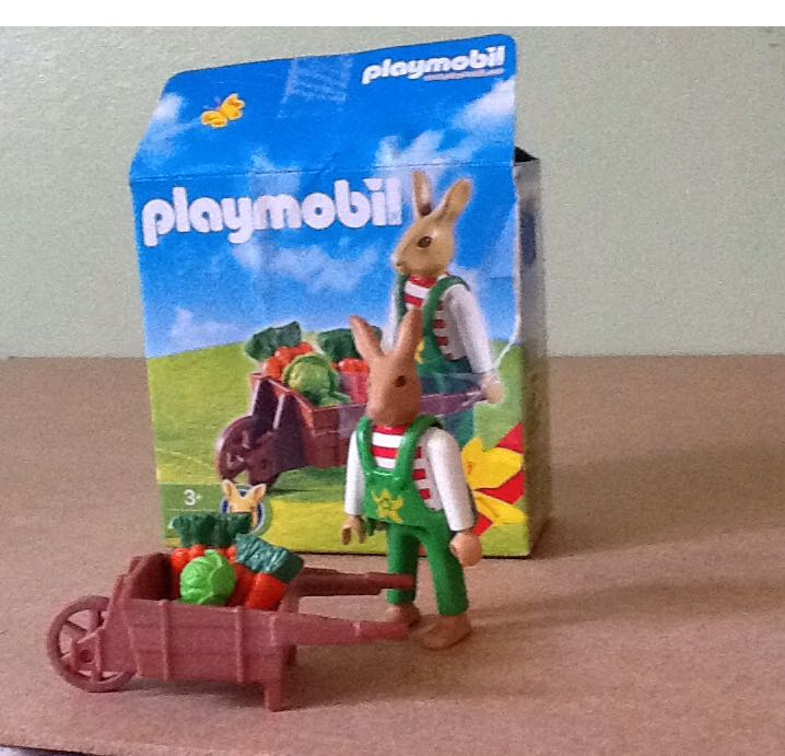 playmobil 4451 - bunny & vegetable cart playmobil - ostern