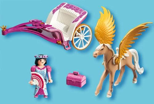Playmobil princess with pegasus carriage magic castle for Carrosse princesse playmobil