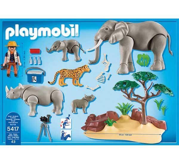 playmobil 5275 playmobil wild life animaux de la savane avec photographe playmobil zoo from. Black Bedroom Furniture Sets. Home Design Ideas
