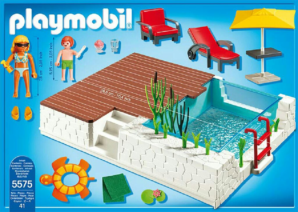 zwembad met terras playmobil city life 5575 from. Black Bedroom Furniture Sets. Home Design Ideas