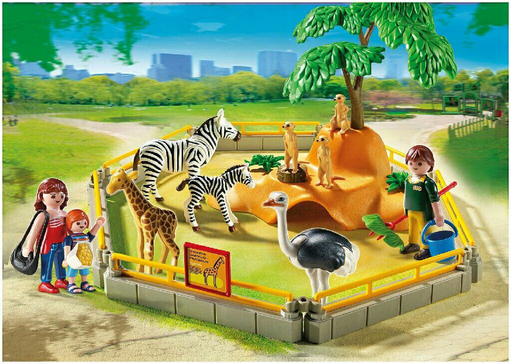 playmobil wild animal enclosure playmobil city life. Black Bedroom Furniture Sets. Home Design Ideas
