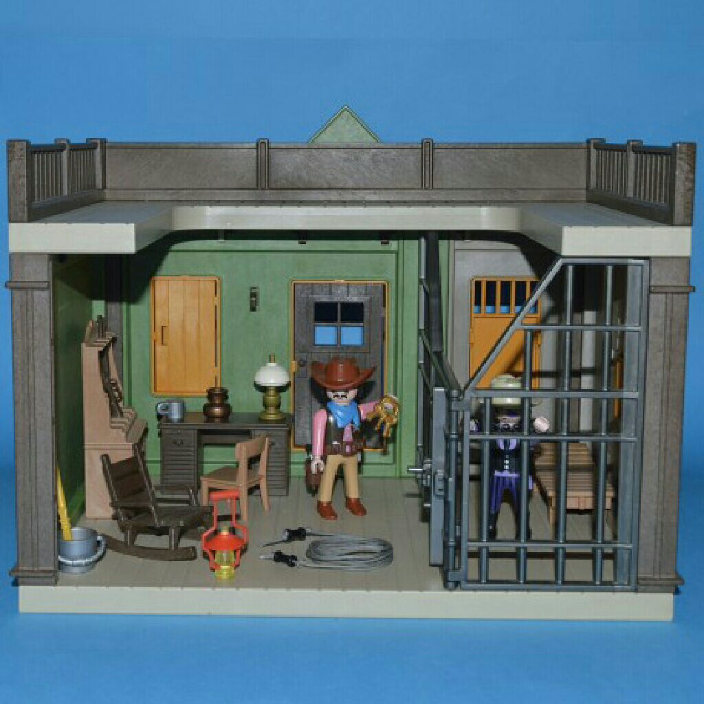 Sheriff S Office 3786 Playmobil Western Back Image Cover Second