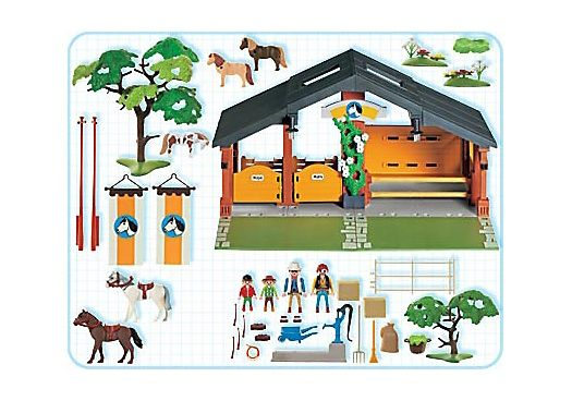 3120 pony ranch playmobil reiterhof 3120 b from sort. Black Bedroom Furniture Sets. Home Design Ideas