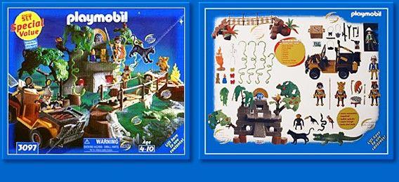 3097 Jungle Adventure Playmobil - Wild Life (3097) back image (back cover,