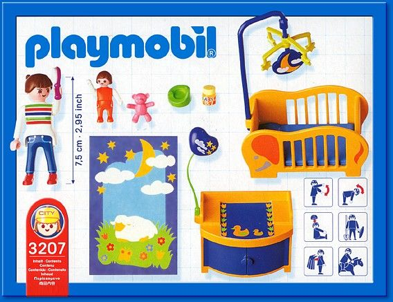 3207 nursery playmobil haus 3207 from sort it apps for Wohnzimmer playmobil