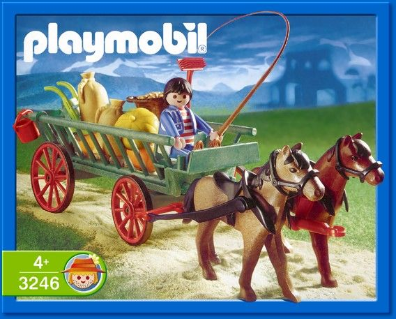 3246 Horse & Kart Playmobil - Country (3246) front image (front cover)