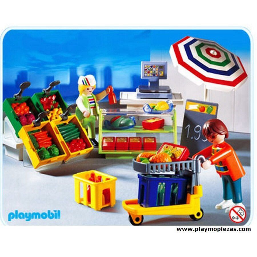 """3202 Playmobil - City Life """"Supermarket"""" (3202) front image (front cover"""