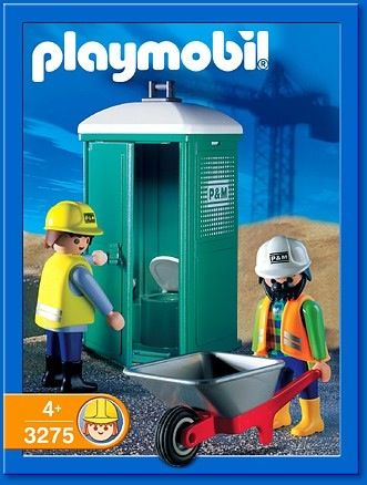 """3275 Portaloo Playmobil - City Action """"Construction"""" (3275) front image  (front"""
