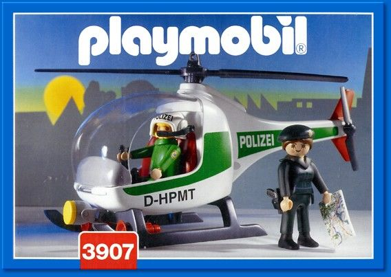 3907 Police Helicopter Green Playmobil (3907) front image (front cover)