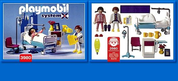 3980 Hospital Room Playmobil - Hospital (3980) front image (front cover)