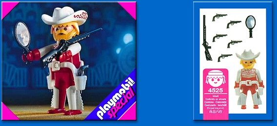 4525 Cowboy Playmobil (4525) front image (front cover)