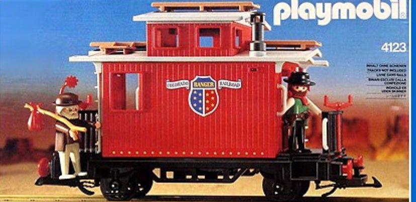W4c01 TRAINS WESTERN PLAYMOBIL Lit pour Wagon Ranger Caboose 4123 Jauni