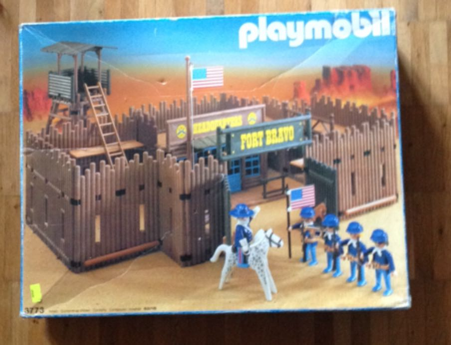 3773 Fort Bravo V1 Playmobil - Western front image (front cover)