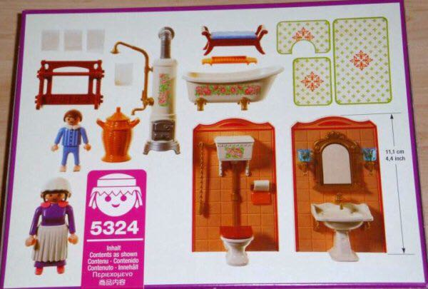 Victorian bathroom playmobil victorian 5324 from for Salle bain playmobil