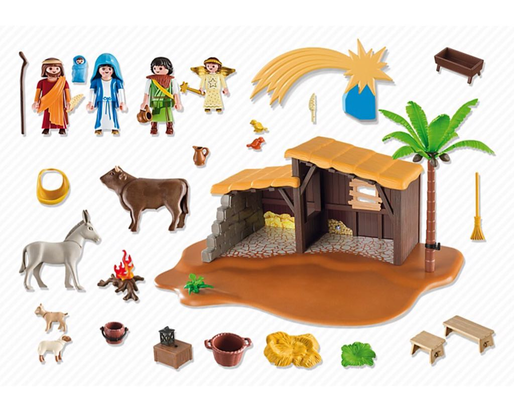 Playmobil Weihnachtskrippe.Grosse Weihnachtskrippe Playmobil Christmas 5588 From