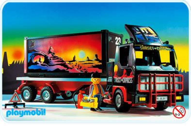 2017 Trucks >> 3817 - Sunset Truck TIR Playmobil - Cargo (3817) - from ...