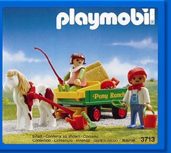 3713 pony ranch wagon and kids playmobil from sort it apps - Playmobil kutsche ...