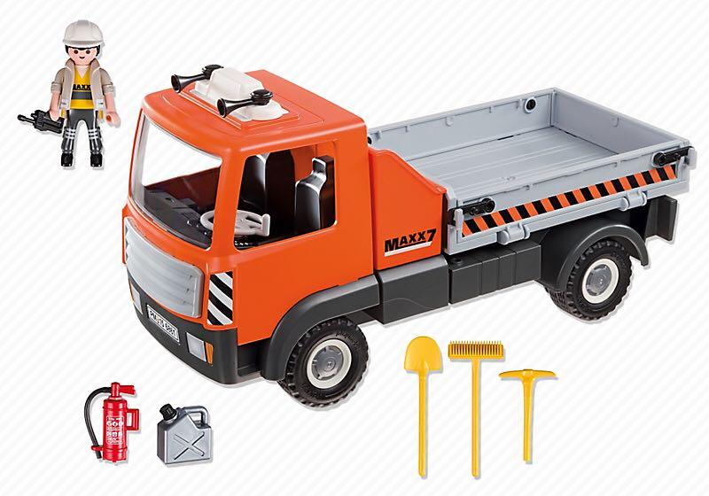 6861 work truck playmobil construction 6861 from - Playmobil camion chantier ...