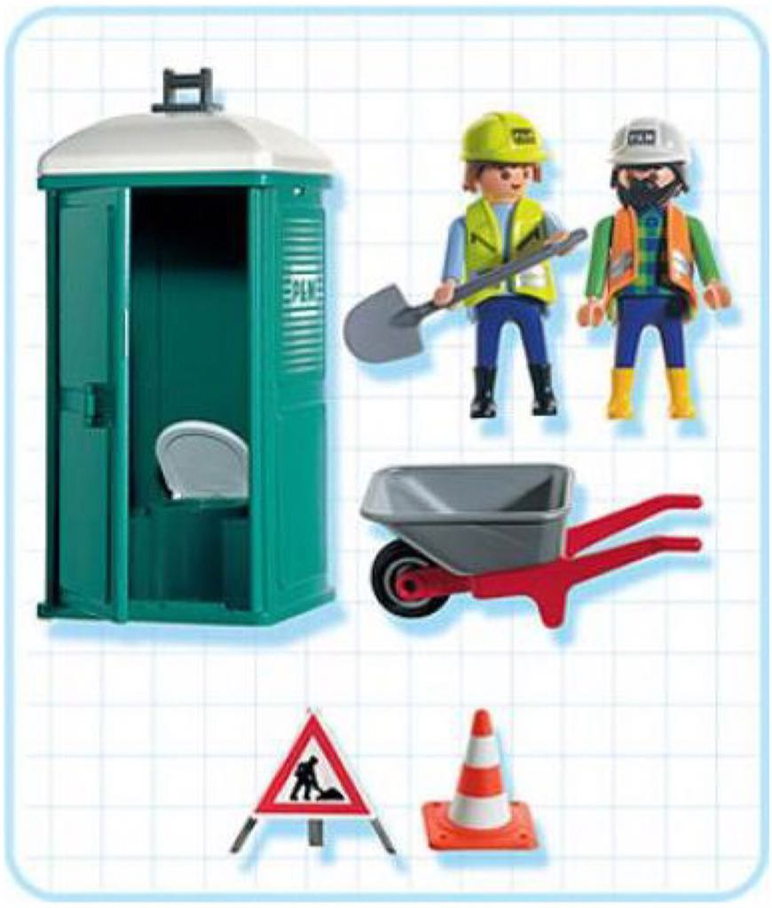 7867 - Portable WC Playmobil - Construction (7867) back image (back cover,