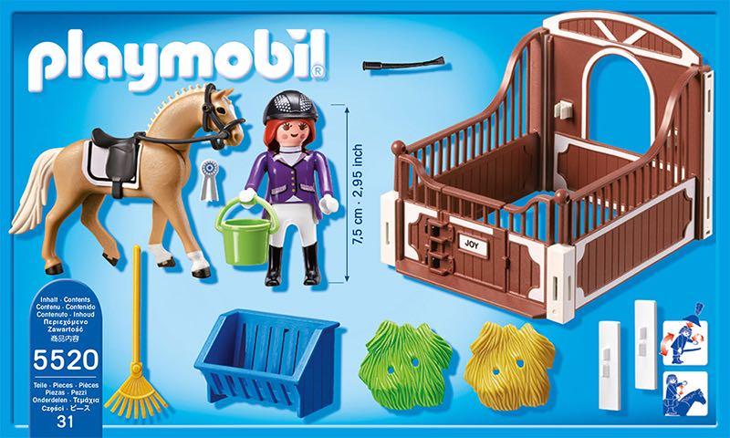 5520 cheval warmblood avec cavali re playmobil country - Playmobil haras ...