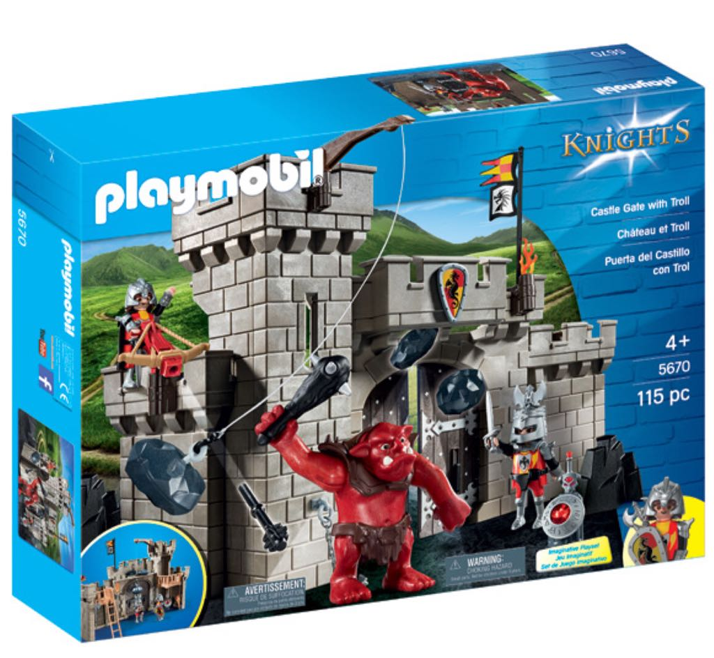 5670 chateau chevalier troll rouge playmobil chevaliers 5670 front image front cover