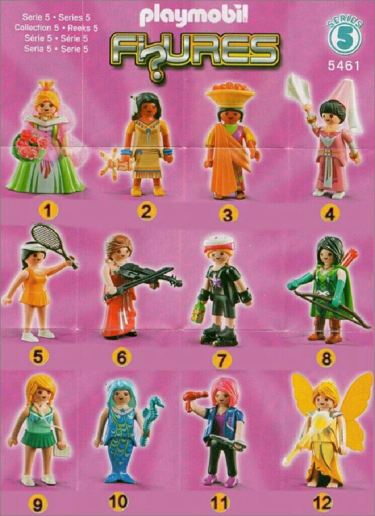 5461 serie 5 fille playmobil figures 5461 back image back cover - Play Mobile Fille