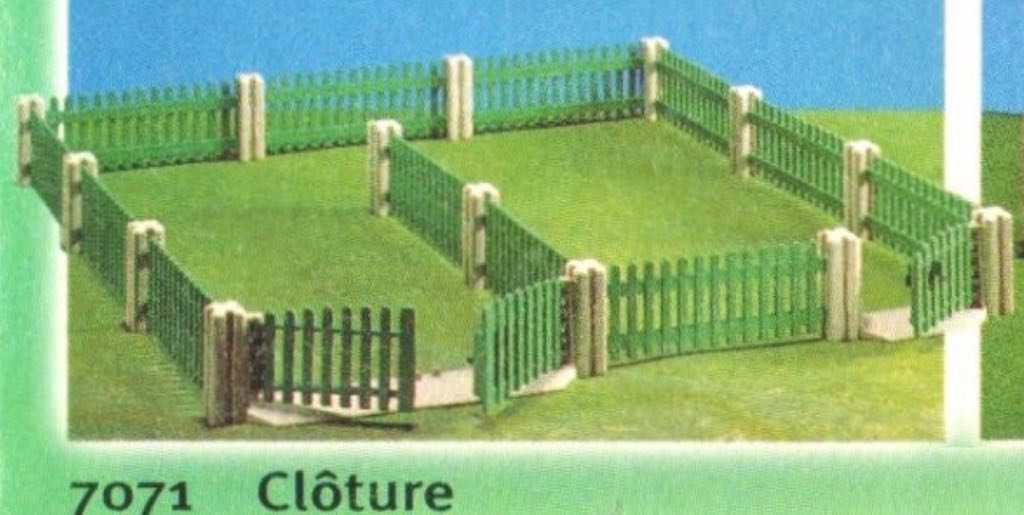Green Farm Fence Playmobil - Farm (7071) front image (front cover)