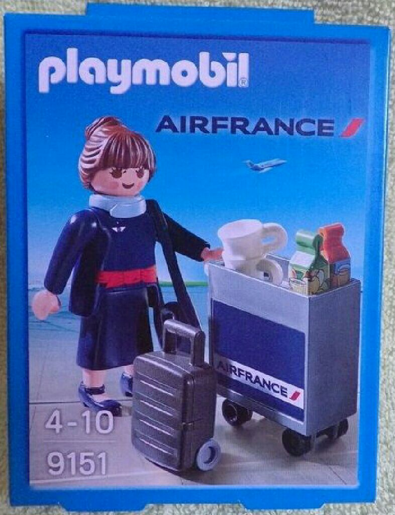 hôtesse air france Playmobil - Aviation (9151) front image (front cover)