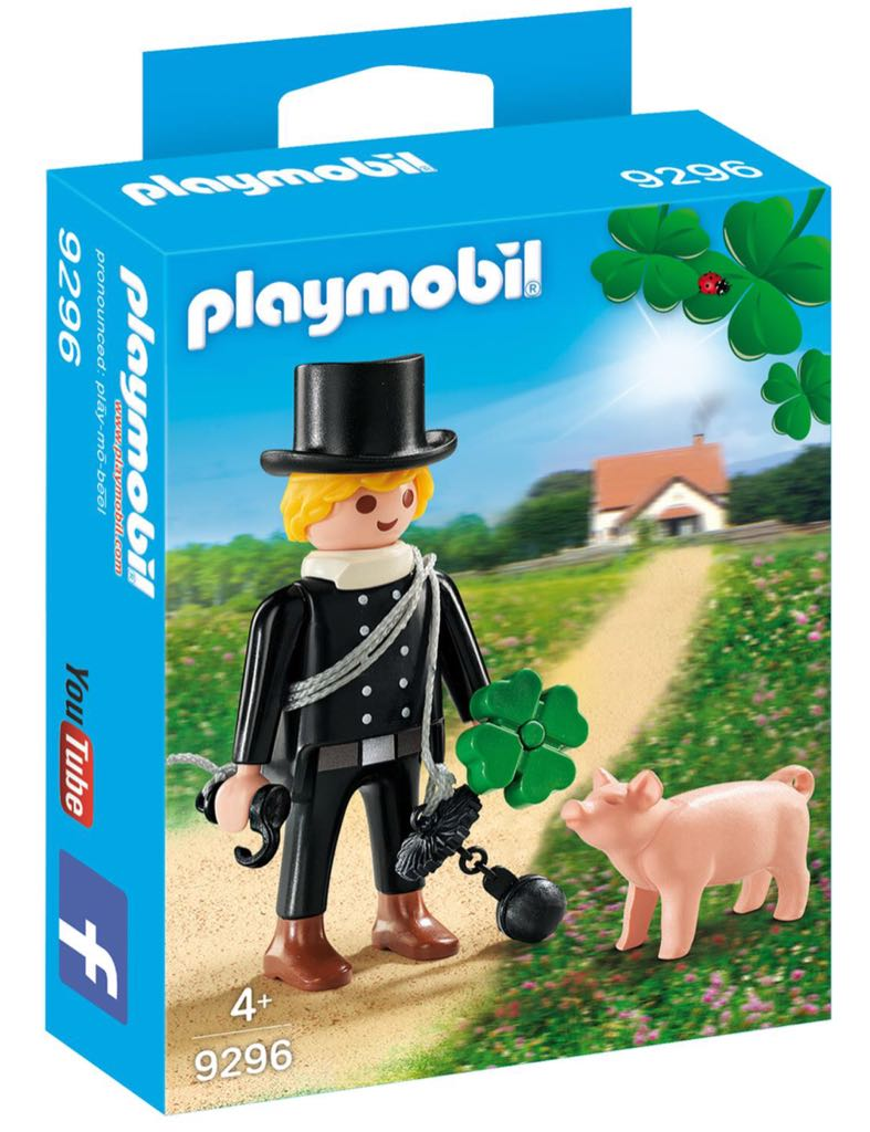 9296 Deshollinador Con Trébol Y Cerdito Playmobil - Figuras Especiales (9296) front image (front cover)