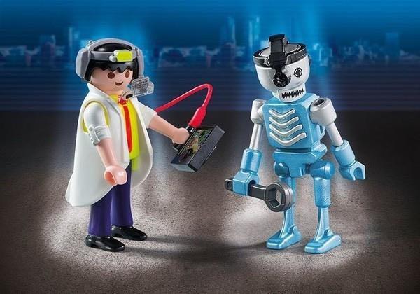 Inventeur Et Robot Playmobil - Personnages (6844) front image (front cover)