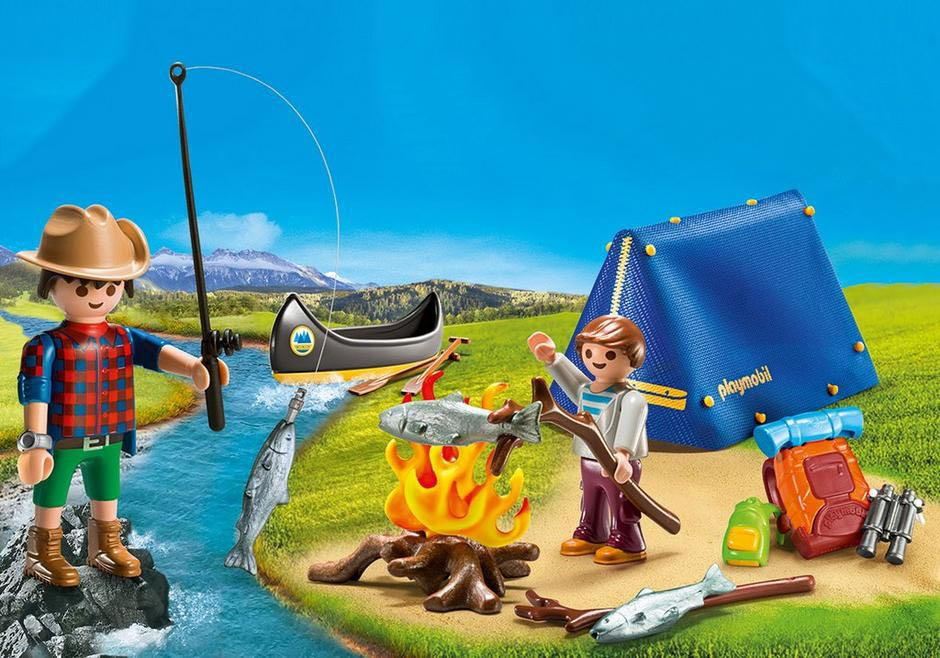 Valisette Campeurs Playmobil - Vacation Camping (9323) front image (front cover)
