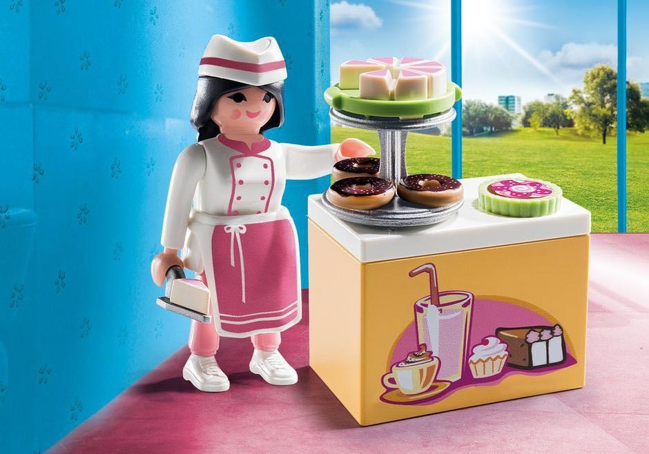 Pâtissiere Avec Gâteaux Playmobil - Vie Urbaine (9097) front image (front cover)