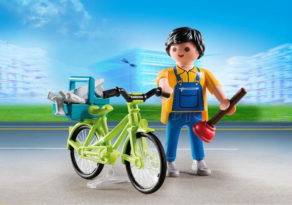 Bricoleur Avec Matériel Et Vélo Playmobil - Vie Urbaine (4791) front image (front cover)