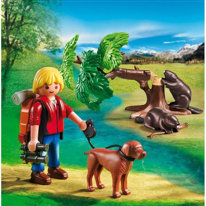 Randonneurs Avec Castors Playmobil - Loisir (5562) front image (front cover)