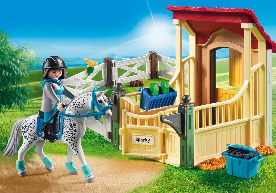 Box Avec Cavalière Et Cheval Playmobil - Loisir (6935) front image (front cover)